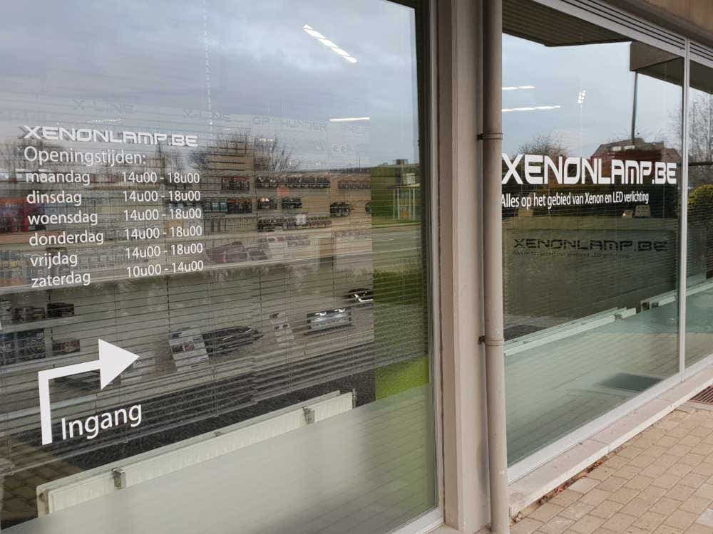 Xenonlamp.be winkel ingang voorkant