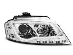 Audi A3 8P 2008-2012 Tube Chrome LED koplamp units