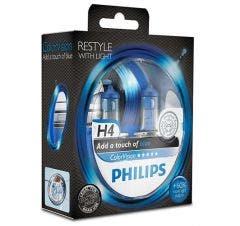 Philips 12V ColorVision Set - Blauw - H4