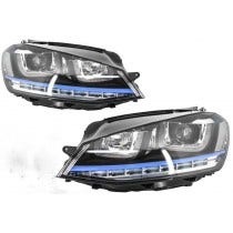 3D LED koplamp VW Golf 7 GTI Blue Look