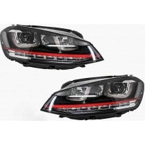 3D LED koplamp VW Golf 7 GTI Red Look