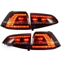 3D LED achterlicht unit VW Golf 7 GTI Red Smoke