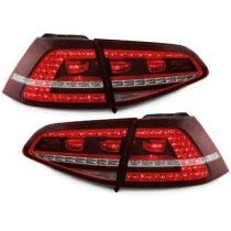 3D LED achterlicht unit VW Golf 7 GTI Red Clear