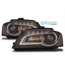LED-koplamp-unit-Audi-A3-(8P)-Black-New-Model