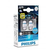 Philips X-Treme Vision LED 12V W5W-T10 8000k 2e Kans