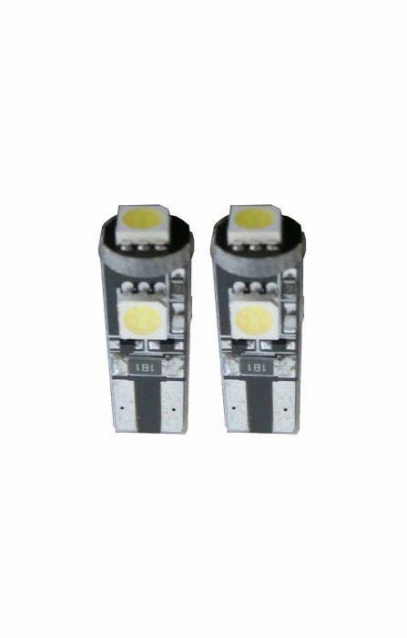 3 SMD CANBUS LED Stadslicht W5W T10-Wit