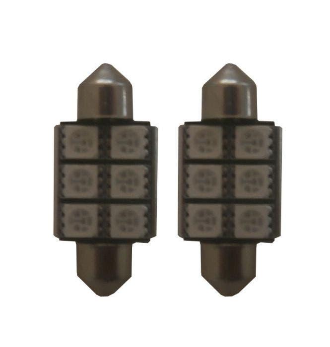 6 SMD LED binnenverlichting 36mm-Wit