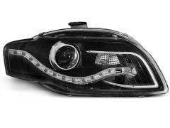 LED koplamp units, geschikt voor Audi A4 B7 04-08 Black DRL